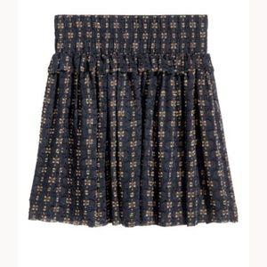 Jacquard-weave Blue/Gold Skirt